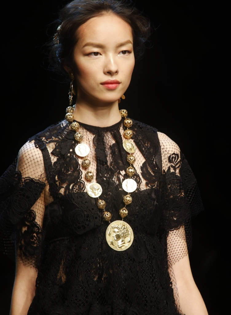 Spring-Summer-2014-accessories-trends-from-Dolce-and-Gabbana-collection-coins-gold-necklace 20+ Hottest Necklace Trends Coming for Summer 2020