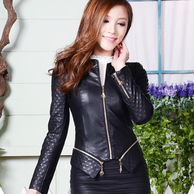 Spring-and-autumn-2014-font-b-leather-b-font-clothing-hot-selling-Women-outerwear-motorcycle-PU 20 Elegant Jacket & Coat Trends for Fall & Winter 2020