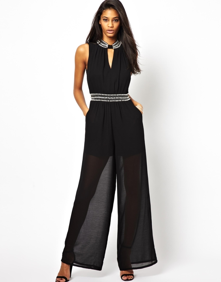 TFNC-Jumpsuit-With-Embellished-Neck-and-Waist-Detail Top 20 Fashion Trends that Men Hate