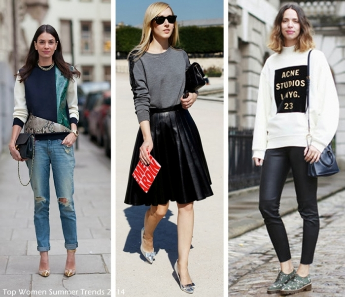 Top-Women-Summer-Trends-2014-Sweatshirt-4 Top 12 Hottest Women's Color Trends Coming for 2019