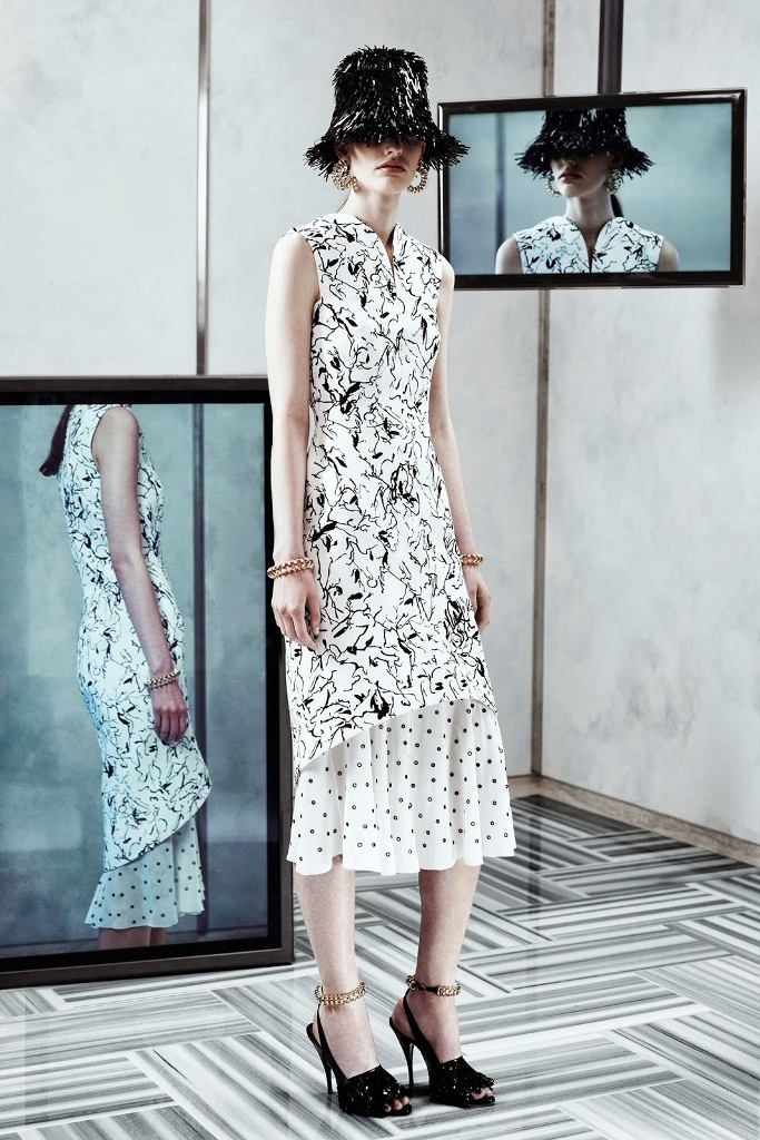 Trend-Black-White-Balenciaga-Resort-2014 Top 10 Fashion Trends from Resort
