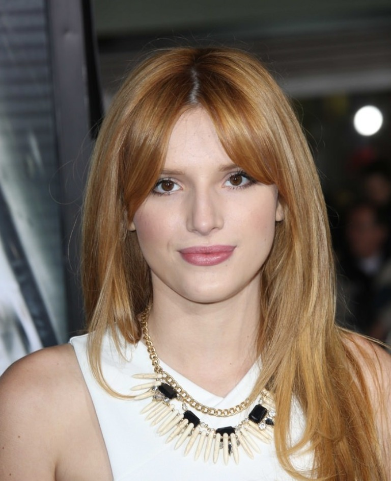 bella-thorne-long-hair-with-fringe Hottest 14 Celebrity Summer Hair Trends 2019
