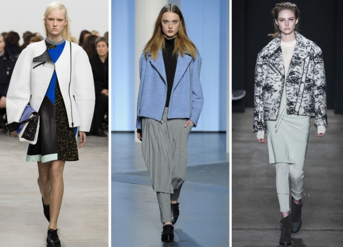 boyfriend-moto-jacket-nyfw-fall-2014-main Top 20 Jacket & Coat Trends for Fall & Winter 2019