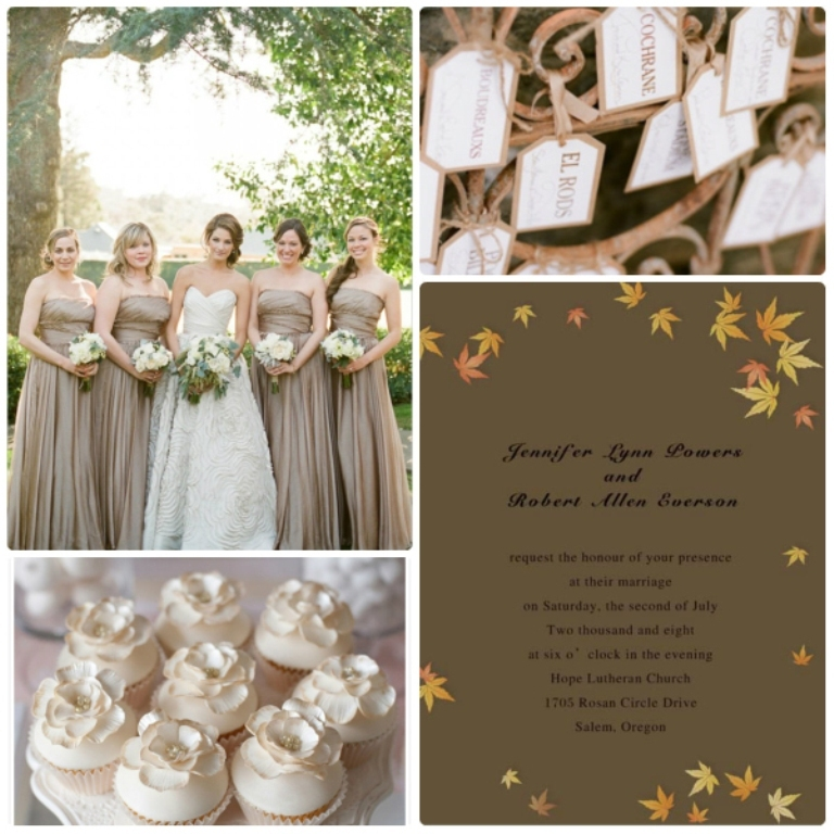 brown-maple-leaves-fall-wedding-invitations Top 10 Modern Color Trends for Weddings Planned in 2019