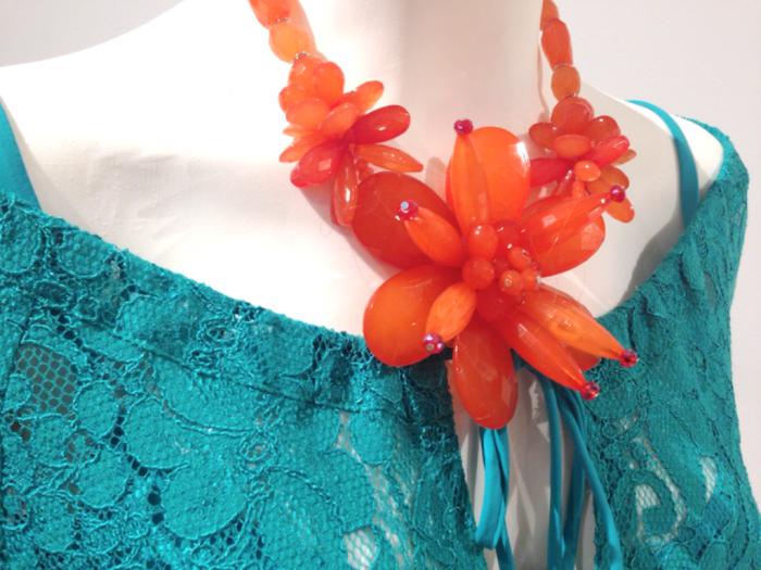 collana.arancio.orange-necklace Hottest 20 Necklace Trends for Summer 2017