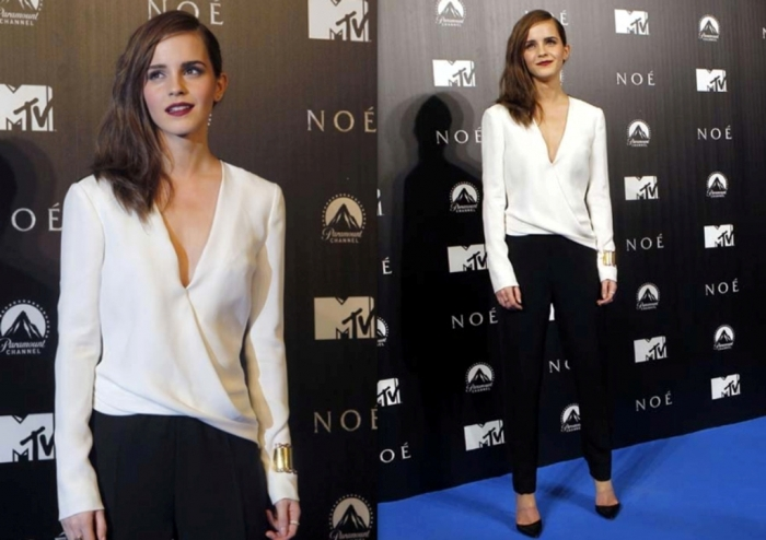 emma-watson-j-mendel-black-white-look-noah-premiere-2014-celebrity-fashion 21+ Most Stylish Teen Fashion Trends for Summer 2020