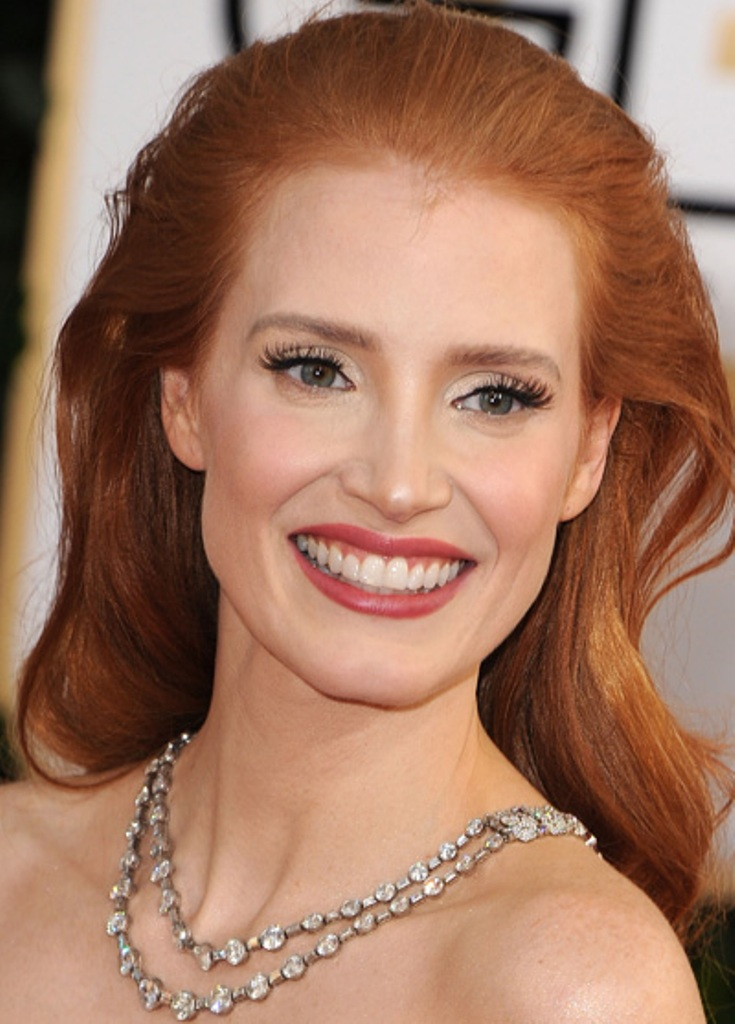 golden-globes-2014-beauty-jessica-chastain 15 Hottest Celebrity Hair Color Trends for Spring & Summer Chosen For 2020
