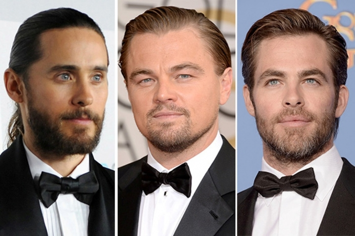 jared-leto-leonardo-dicaprio-chris-pine 15+ Stylish Celebrity Beard Styles for 2020