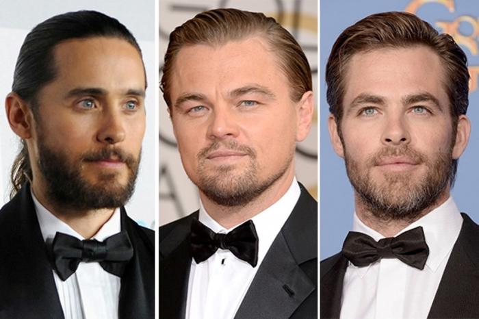 jared-leto-leonardo-dicaprio-chris-pine Best Chosen 15 Celebrity Beard Styles for 2019