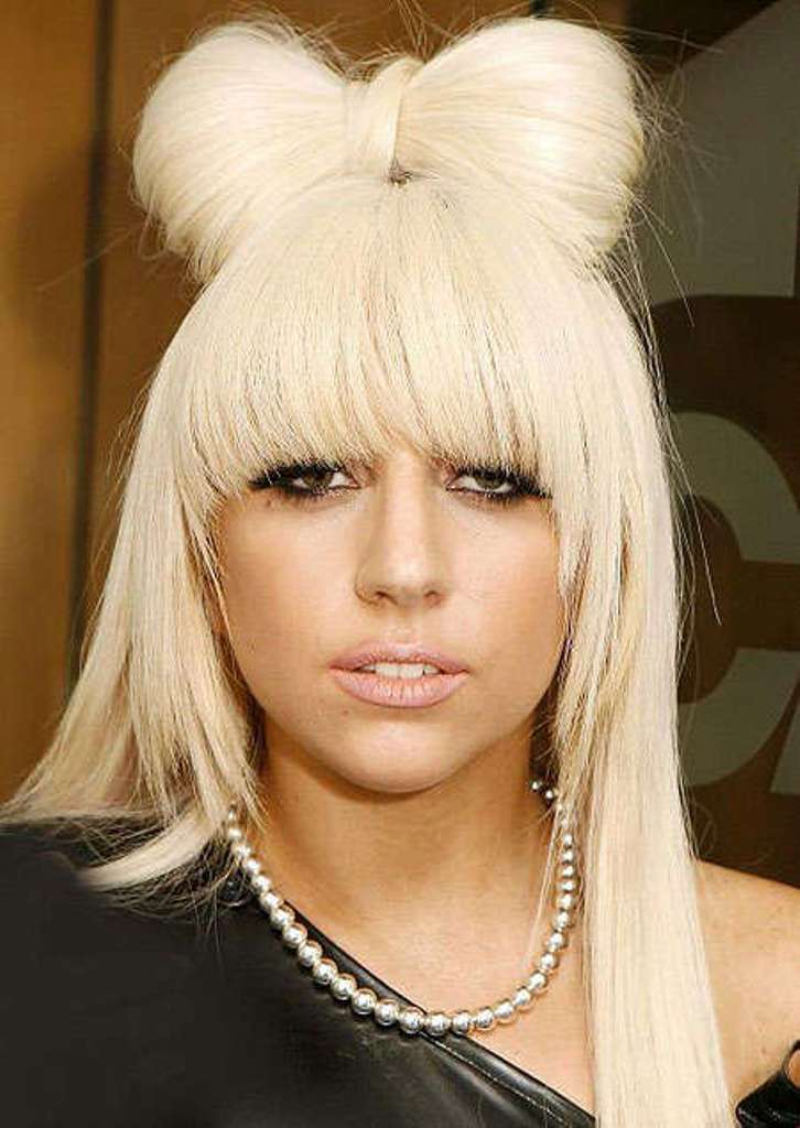 lady-gaga-hair-bows 20 Weird and Funny Celebrity Hairstyles