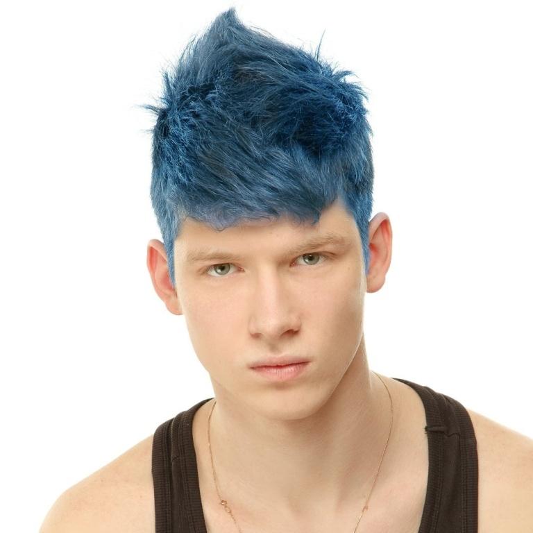 mens-fudge-paintbox-semi-permanent-hair-dye-blue-hawaii-p560-2942_image 20+ Best Chosen Men's Hair Color Trends for 2019