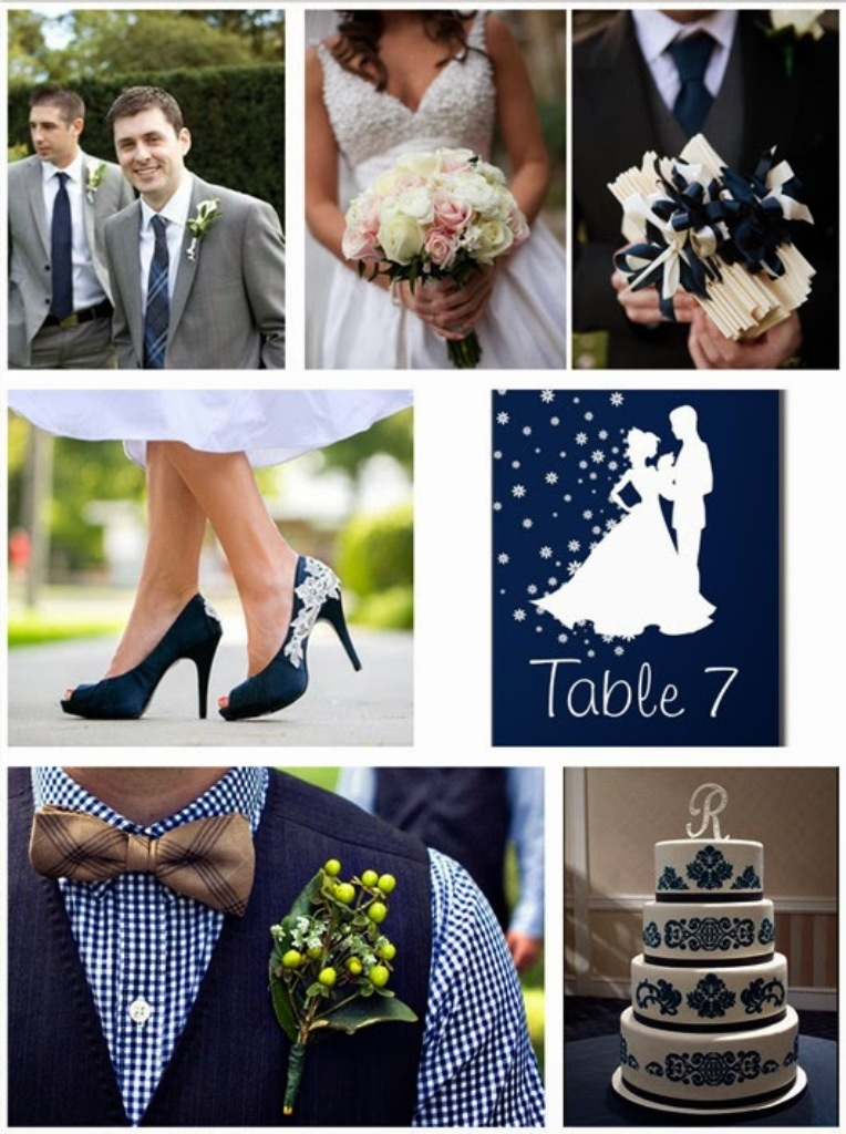 2014 most popular color trends for weddings pouted for Navy blue wedding theme ideas