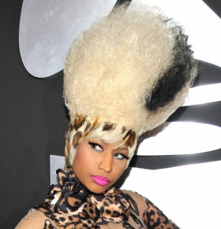 nicki-minaj 20 Weird and Funny Celebrity Hairstyles