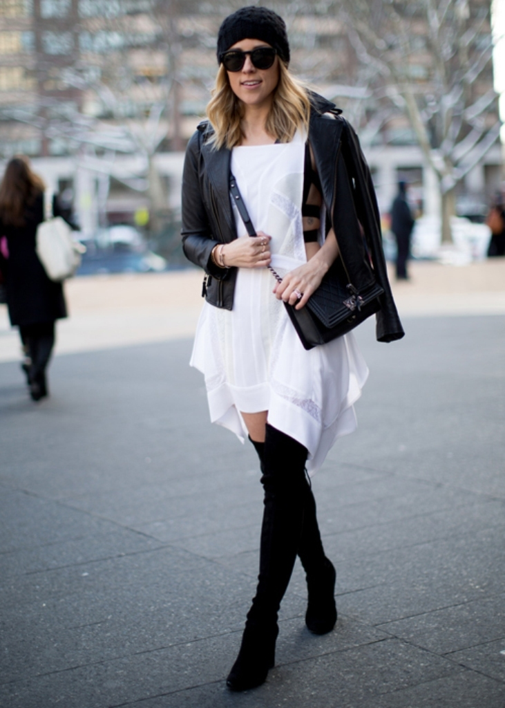 nyfw-fall-2014-street-style-leather-jacket-1 20 Elegant Jacket & Coat Trends for Fall & Winter 2020