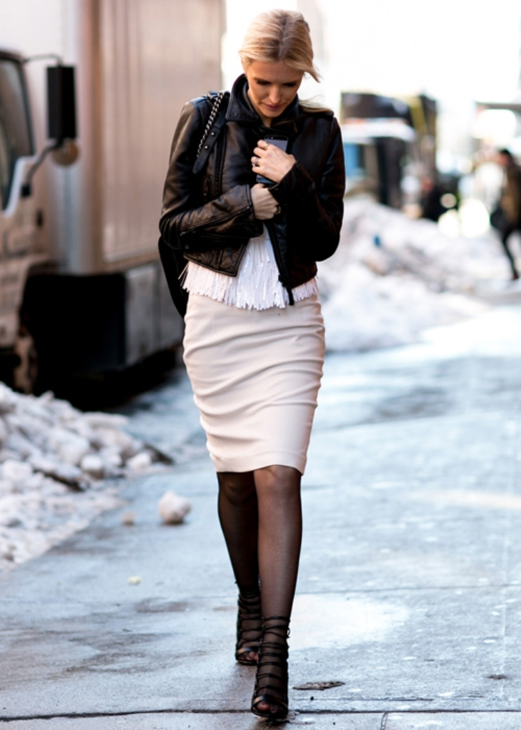 nyfw-fall-2014-street-style-leather-jacket-4 20 Elegant Jacket & Coat Trends for Fall & Winter 2020
