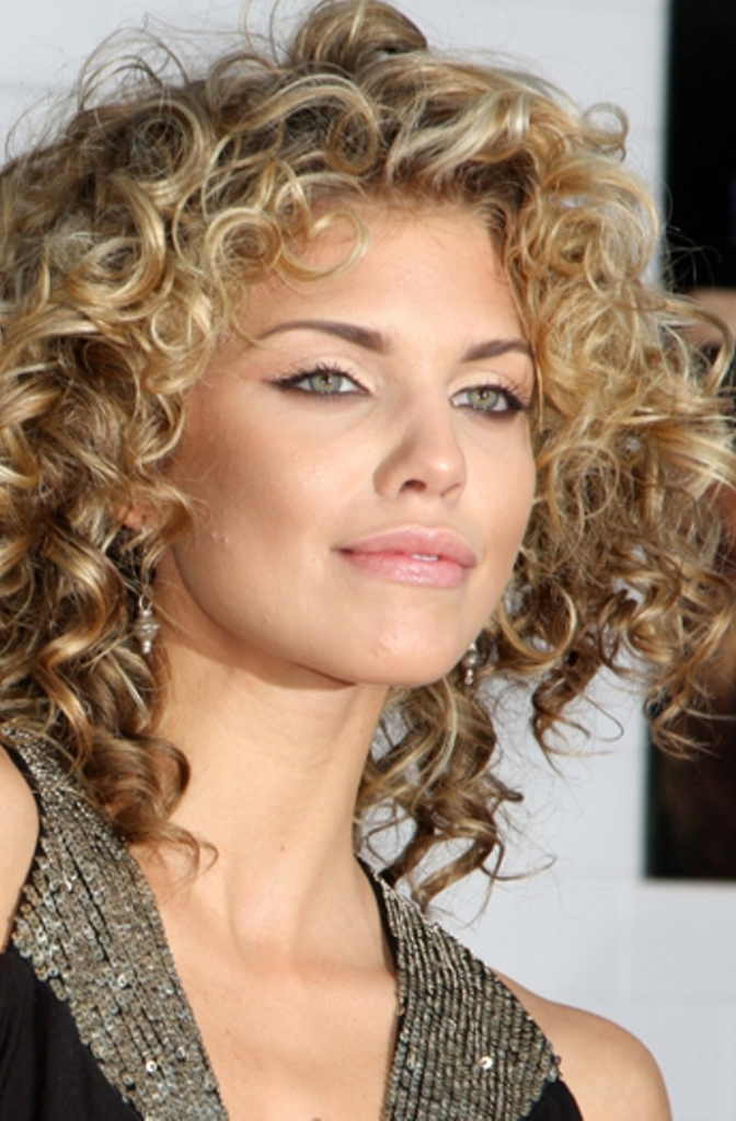 Fabulous Curly Hair Round Face Short Hairstyles Gunalazisus