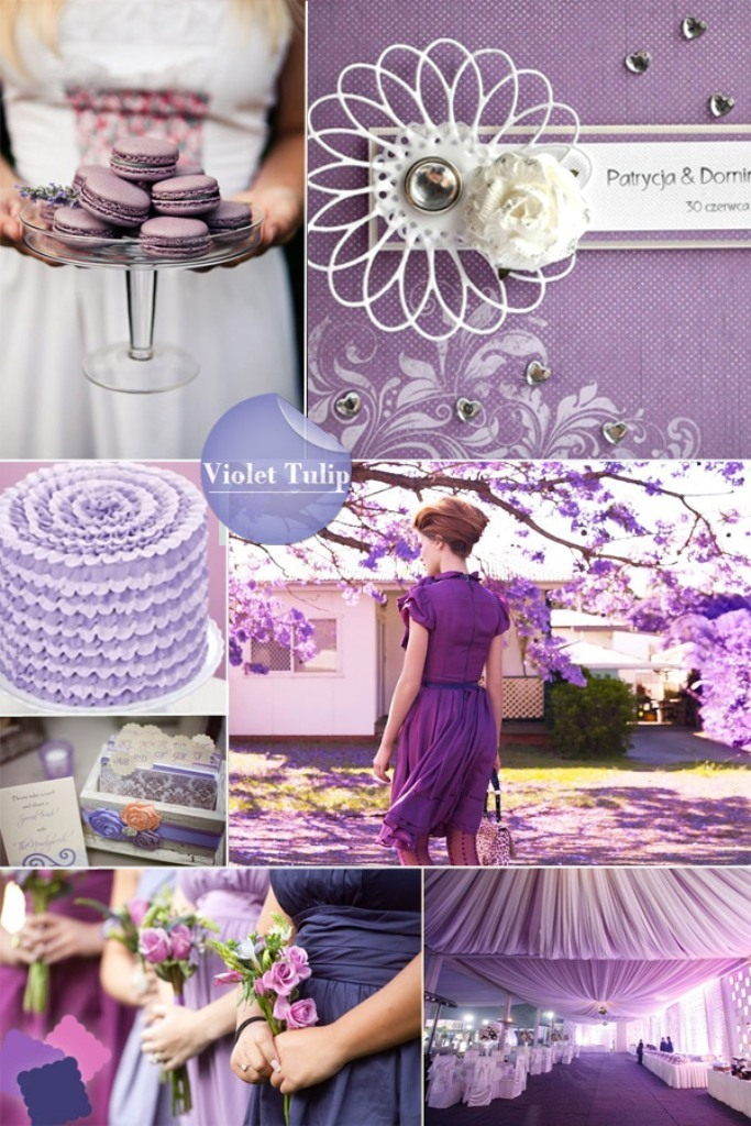 violet-spring-2014-wedding-color-trend-with-bridesmaid-dresses-ideas Newest 20 Wedding Trends for 2019