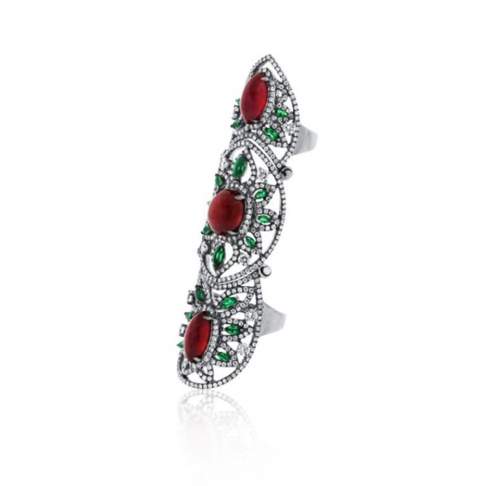 "050400771d686e4667489a73c31bba09 25 Awesome & Affordable Full Finger Rings ""Armor Rings"""