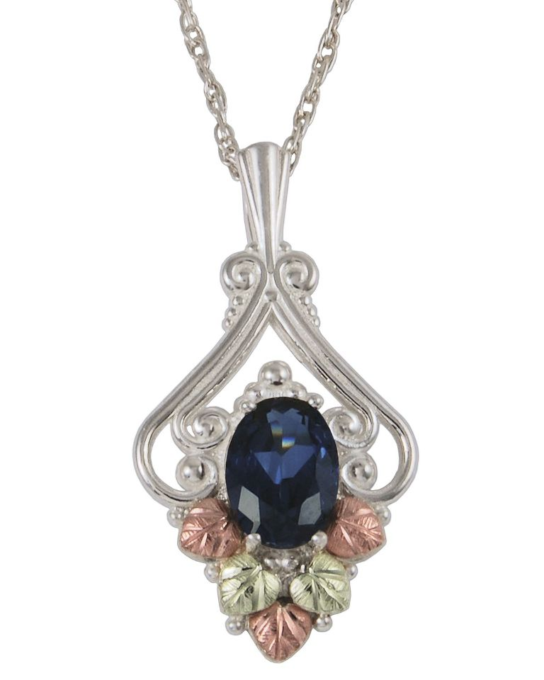 25849S-L-GS_Sapphire-Black-Hills-Pendant 25 Black Hills Gold Jewelry in Creative Designs