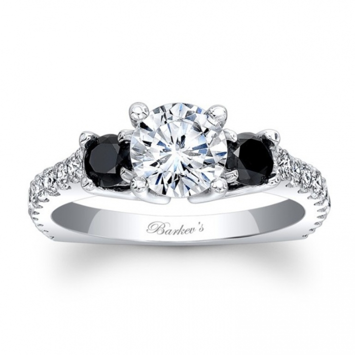 7925lbkw_black_diamond_engagement_ring Top 25 Rare Black Diamonds for Him & Her