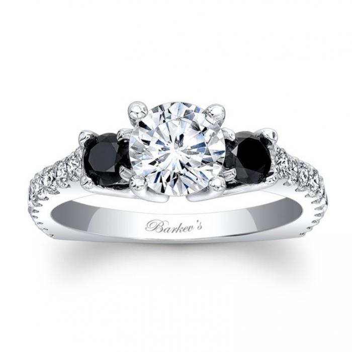 7925lbkw_black_diamond_engagement_ring Top 25 Rare Black Diamonds for Him & Her