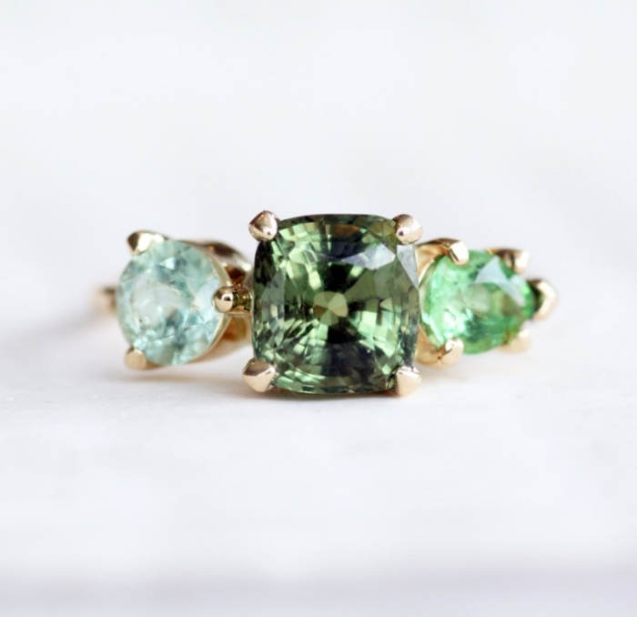 Alexandrite-stone-cluster-ring Alexandrite Jewelry and Its Paranormal Wonders & Properties