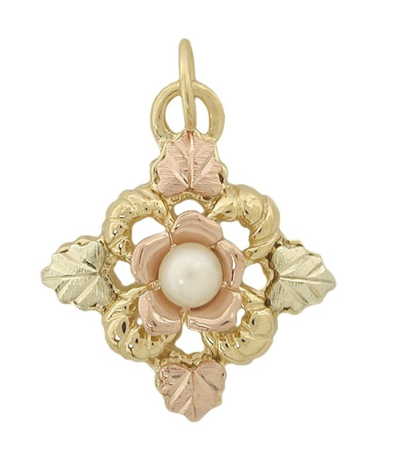 Black_Hills_Gold_Rose_And_Pearl_Pendant 25 Black Hills Gold Jewelry in Creative Designs