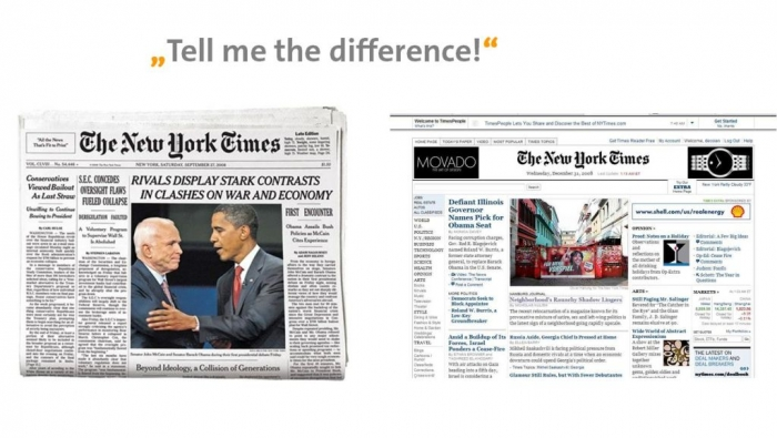 Difference-between-print-and-online-NY-Times Top 10 Trends in the Newspaper Industry