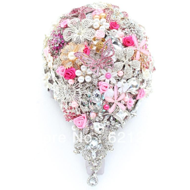 25 Fabulous Bridal Brooch Jewelry Bouquets