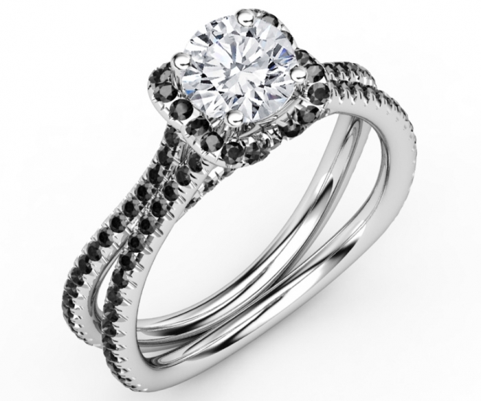 ES1000-4 Top 25 Rare Black Diamonds for Him & Her