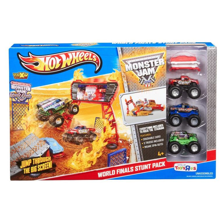 Exclusive-Hot-Wheels-Monster-Jam-Stunt-Stadium-Build-Up 2014 Hot Wheels Cars Commercial