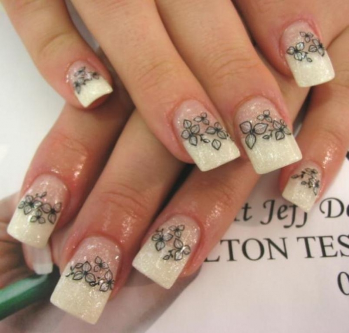 Flower-and-Gel-Nails-Design-Ideas All What You Need to Know about Gel Nails Is Here