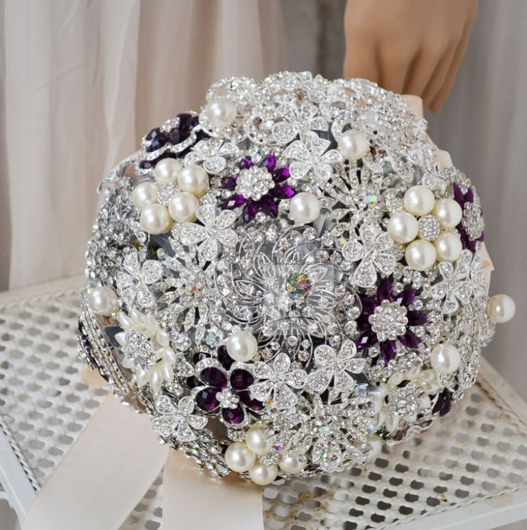 Free-shipping-Luxurious-custom-Silver-font-b-purple-b-font-beading-font-b-brooch-b-font How to Design Your Brooch Bouquet