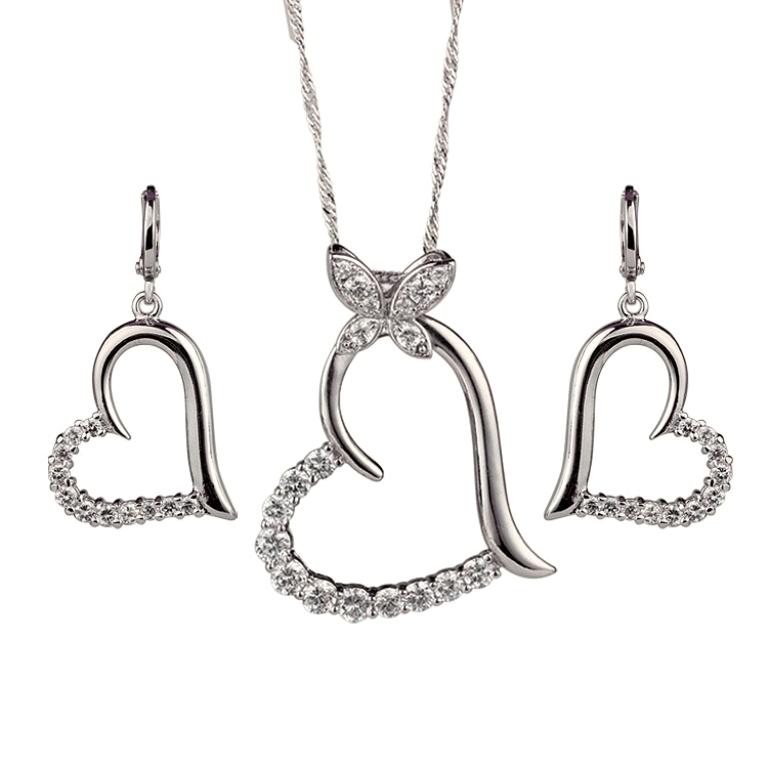 Heart-in-heart-jewelry-set-Copper-with-18K-gold-plated-Cubic-Zirconia-jewellery-settings-Pendant-earring Why Do Women Love Heart Jewelry?