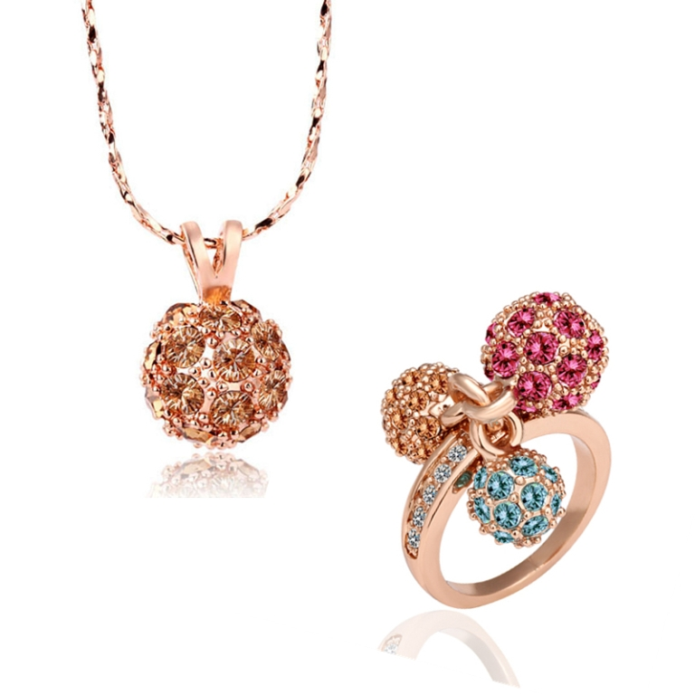 Low-price-18K-Gold-plated-Rhinestone-Crystal-Fashion-Women-Elegant-jewelry-set-free-shipping-1 How to Buy Jewelry for Your Wife