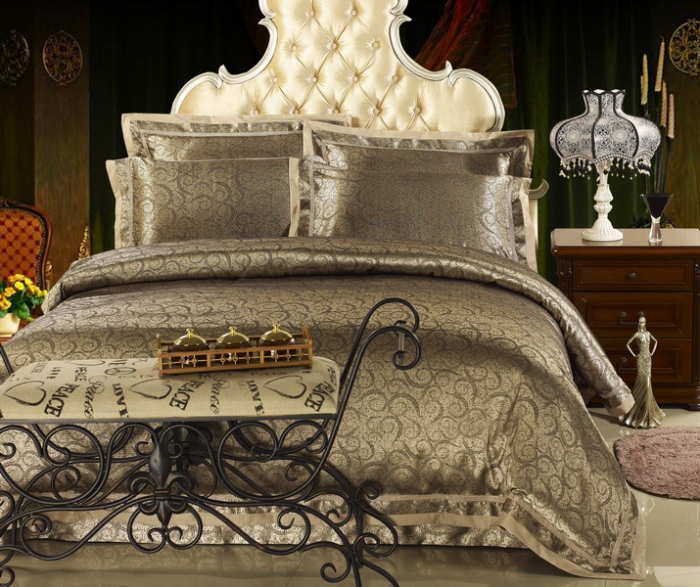 Luxury-tencel-cotton-satin-jacquard-bedding-set-silk-100-cotton-king-queen-bedspread-flat-sheet-4pcs How to Choose the Perfect Bridal Bedspreads