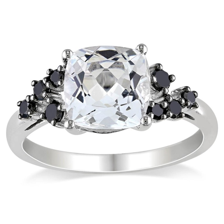 Miadora-10k-White-Gold-White-Topaz-and-1-4ct-TDW-Black-Diamond-Ring-109-1 Top 25 Rare Black Diamonds for Him & Her