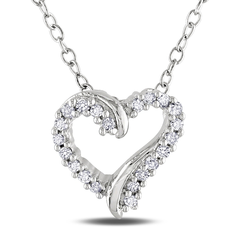 Miadora-Sterling-Silver-1-10ct-TDW-Diamond-Heart-Necklace-H-I-I2-I3-P14740759 Why Do Women Love Heart Jewelry?