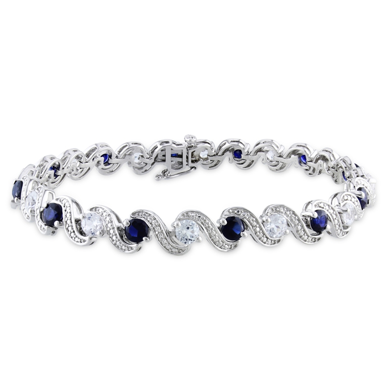 Miadora-Sterling-Silver-Created-Blue-and-White-Sapphire-Bracelet-P14740789 How Do You Know Your Bracelet Size?