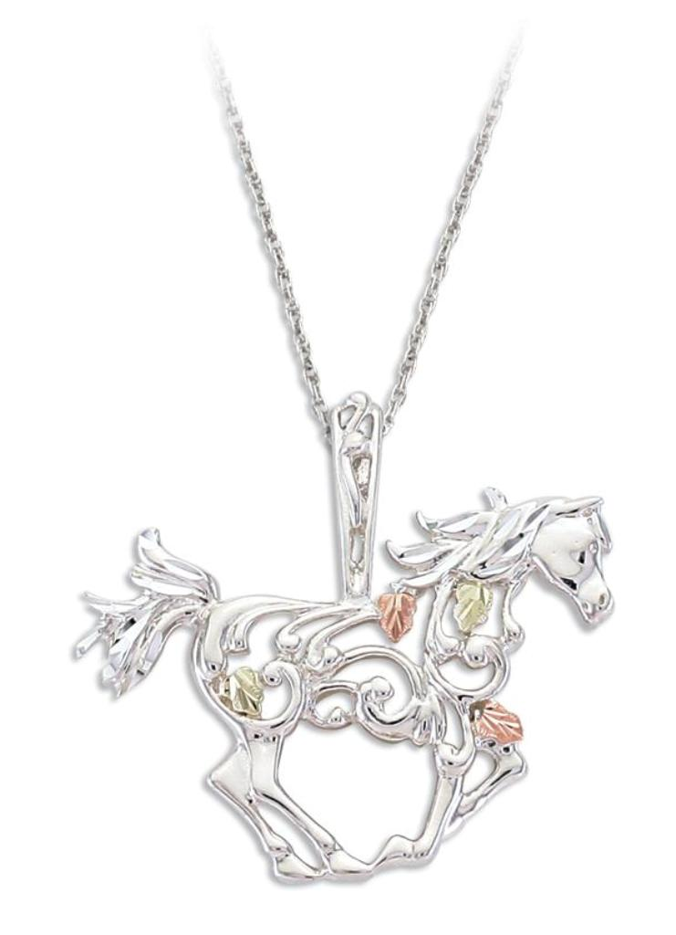 PE1916-SS_Black-Hills-Gold-Horse-Pendant-in-Sterling-Silver 25 Black Hills Gold Jewelry in Creative Designs