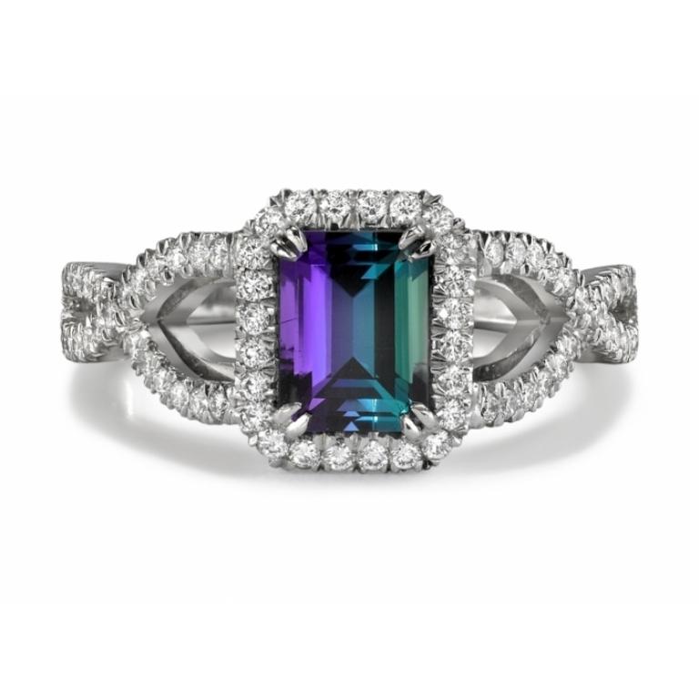 R1082-ALEXDIAMRINGIN18KWG Alexandrite Jewelry and Its Paranormal Wonders & Properties