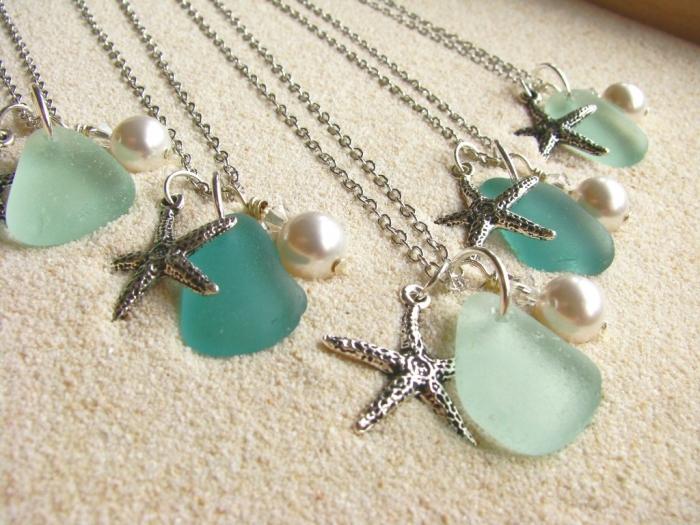 Teal-Wedding-Sea-Glass-Jewelry 25 Pieces of Elegant & Fashionable Glass Jewelry