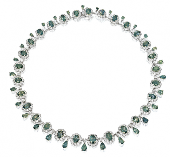 alexandrite-diamond-cluster-necklace Alexandrite Jewelry and Its Paranormal Wonders & Properties