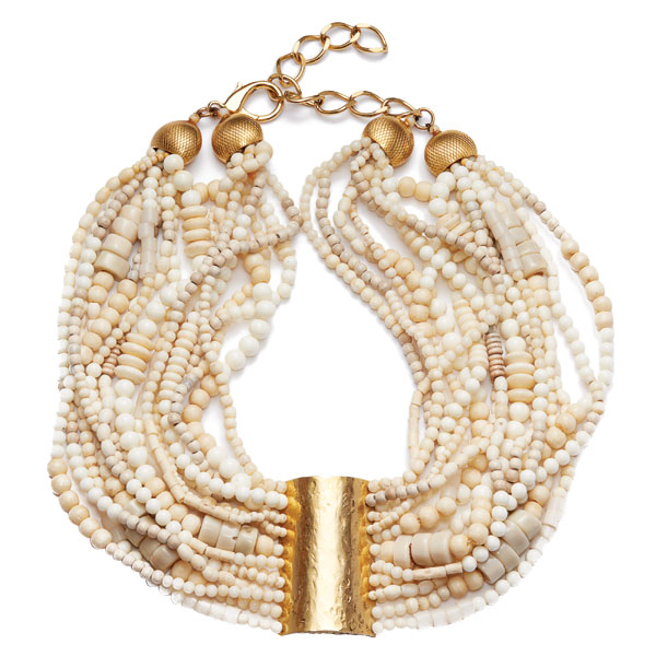 beaded-gold-necklace1 7 Tips On Choosing Beach Wedding Accessories