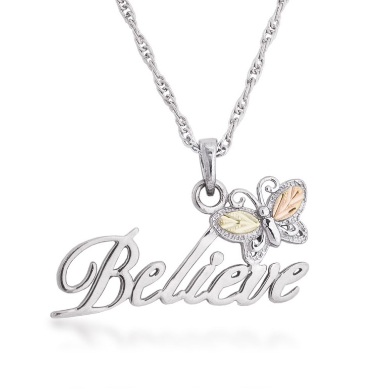 believe-sterling-silver-black-hills-gold-necklace 25 Black Hills Gold Jewelry in Creative Designs