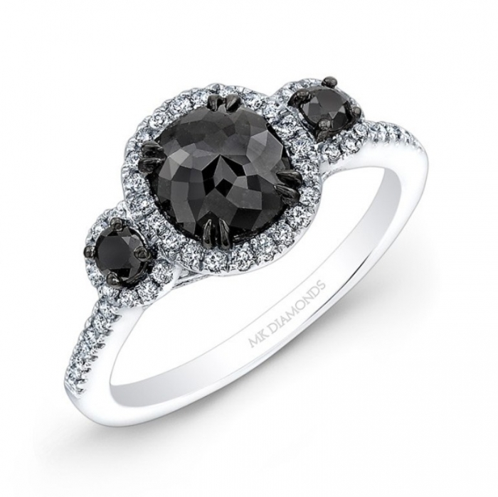 black-diamond-engagement-ring-597 Top 25 Rare Black Diamonds for Him & Her