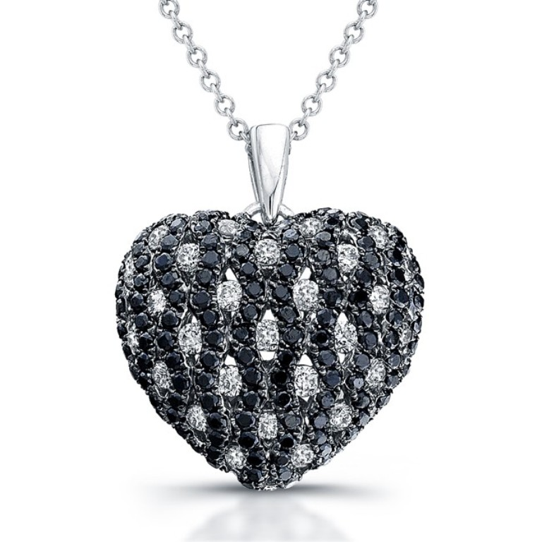 black-diamond-heart-necklaces-eaom5p9g Top 25 Rare Black Diamonds for Him & Her