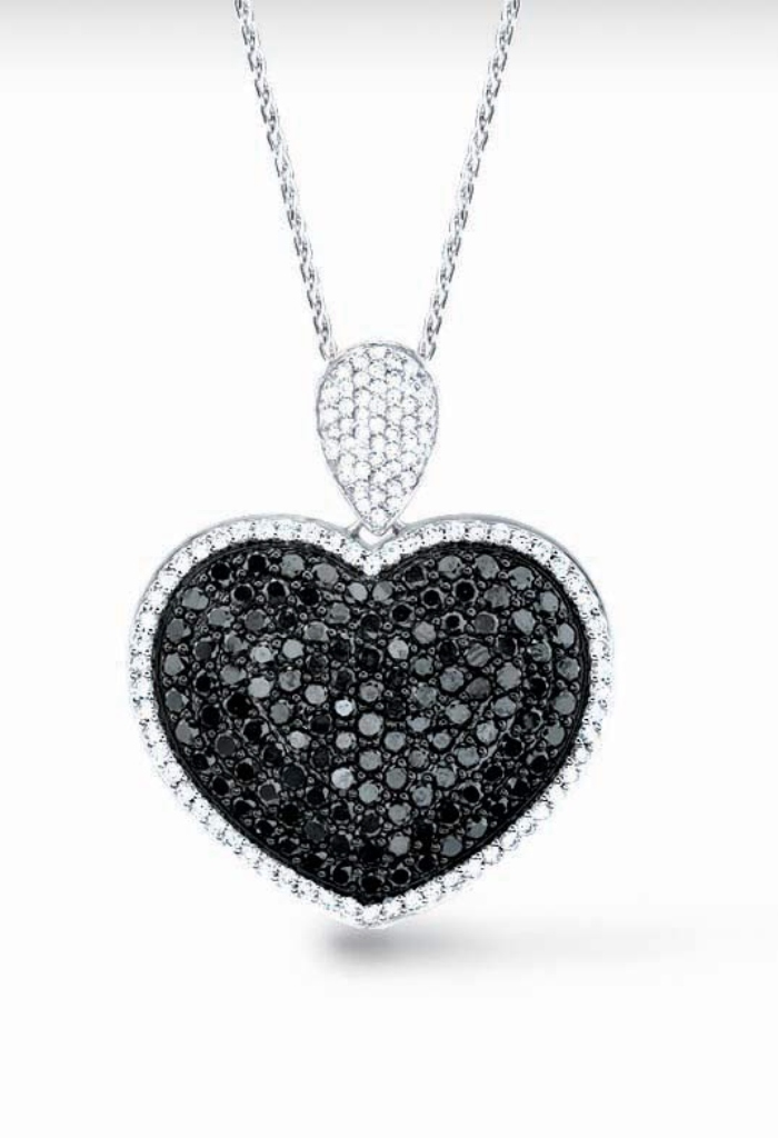 black-diamond-heart-necklaces-ttp1ps9h Top 25 Rare Black Diamonds for Him & Her