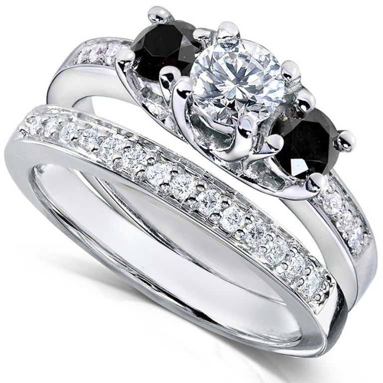 black-diamond-wedding-ring-sets-8 Top 25 Rare Black Diamonds for Him & Her