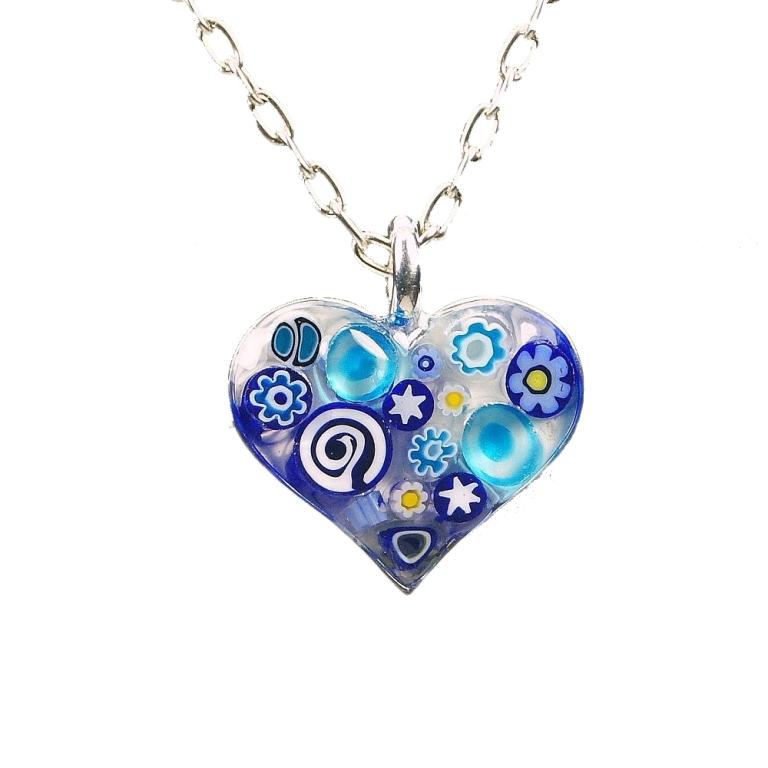 blues-round-mosaic-glass-22541-482z 25 Pieces of Elegant & Fashionable Glass Jewelry
